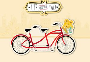Tandem Bike from Spouse Anniversary Card