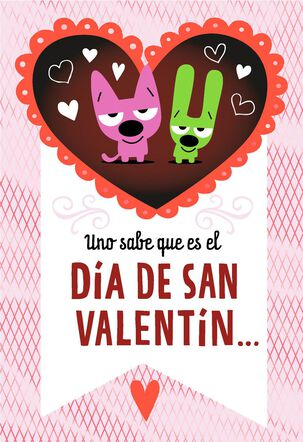 hoops&yoyo™ Chocolate Breath Spanish-Language Valentine's Day Card