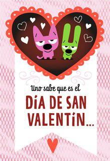 hoops&yoyo™ Chocolate Breath Spanish-Language Valentine's Day Card,