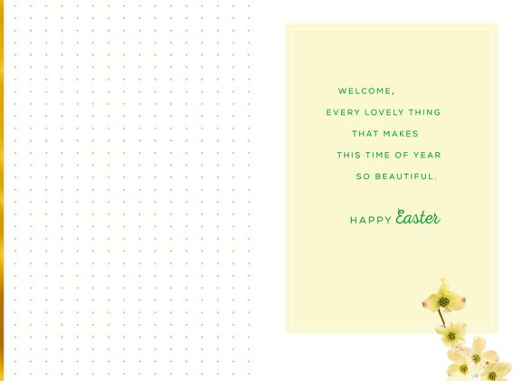 Hello Spring Dogwood Easter Card Greeting Cards Hallmark – Hallmark Easter Cards