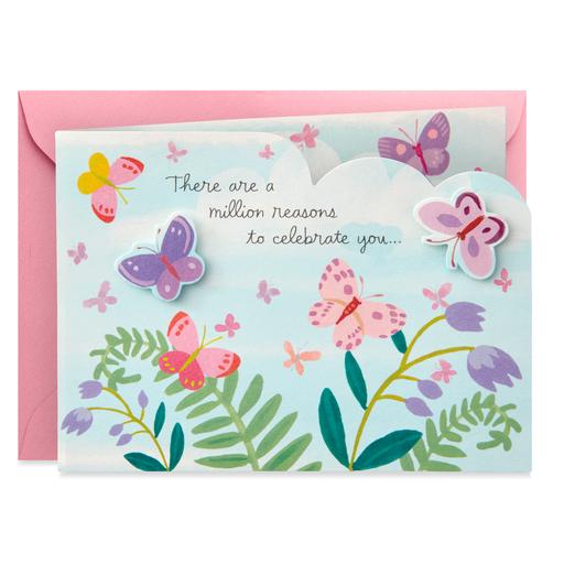Celebrating You Butterflies Mini Pop Up Birthday Card