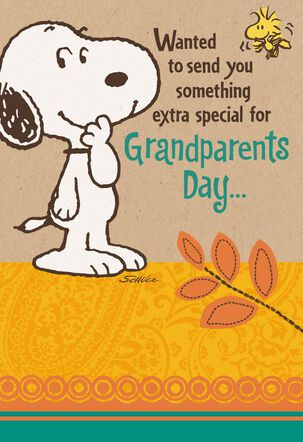 Peanuts® Snoopy Big Hug Grandparents Day Card