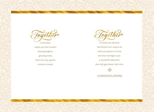 Together Forever Wedding Congratulations Card,