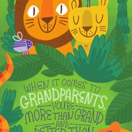 Jungle Animals Grandparents Day Card, , large