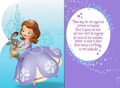 Sofia the First Musical 3rd Birthday Card,