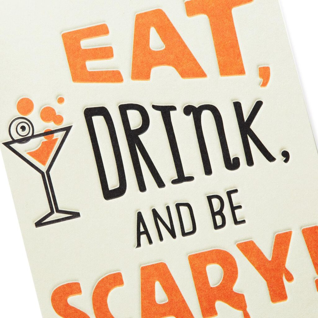 eat drink and be scary halloween party invitations pack of 10