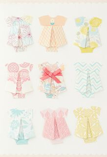 So Much Sweetness Origami New Baby Girl Congratulations Card,