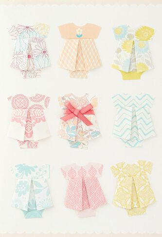 so much sweetness origami new baby girl congratulations card