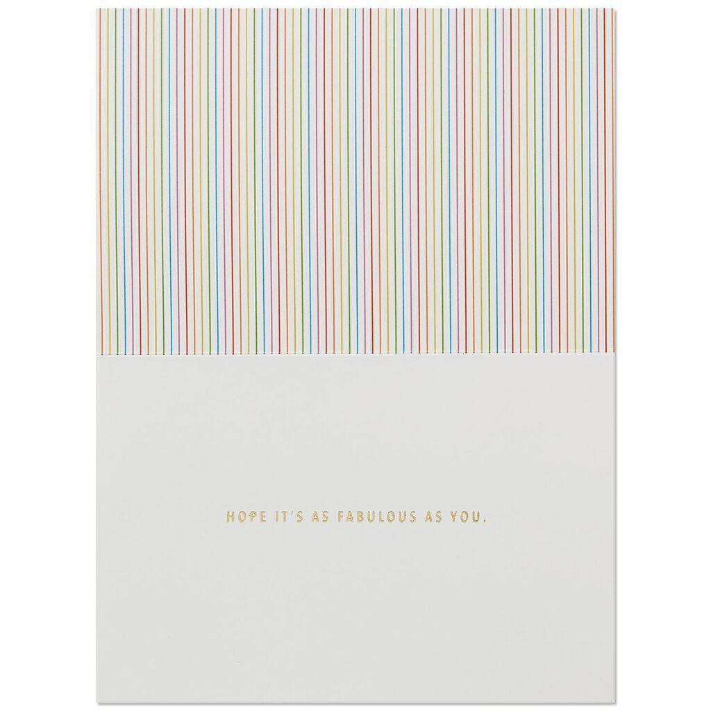 Rainbow Glitter Letters Birthday Card