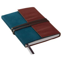 Faux Leather and Suede Journal, , large