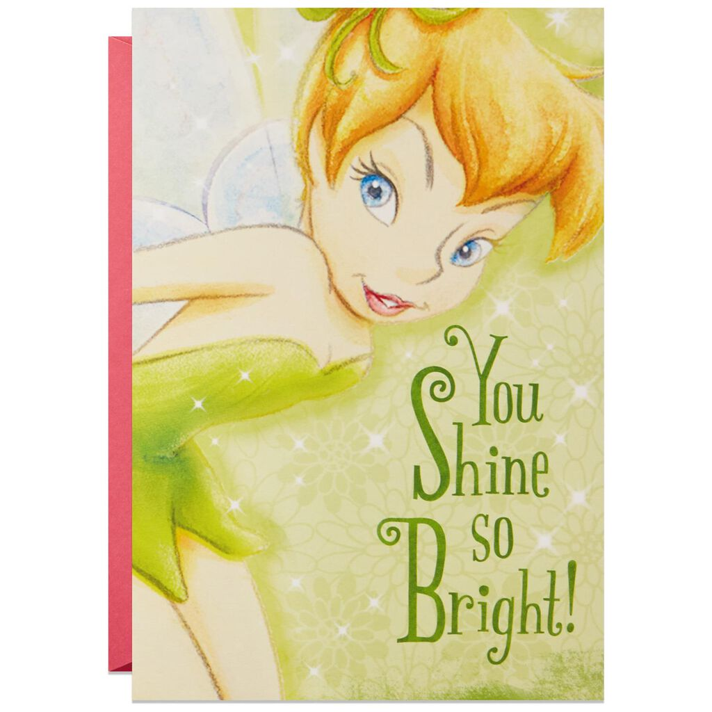 Tinker Bell More Amazing Every Year Musical Birthday Card With Light