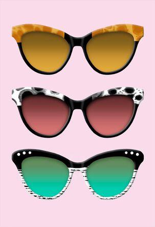 Stylish Sunglasses Blank Card