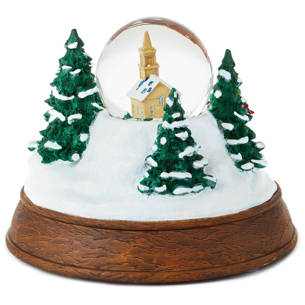 Christmas in Evergreen Sleigh Ride Musical Snow Globe With Light ...