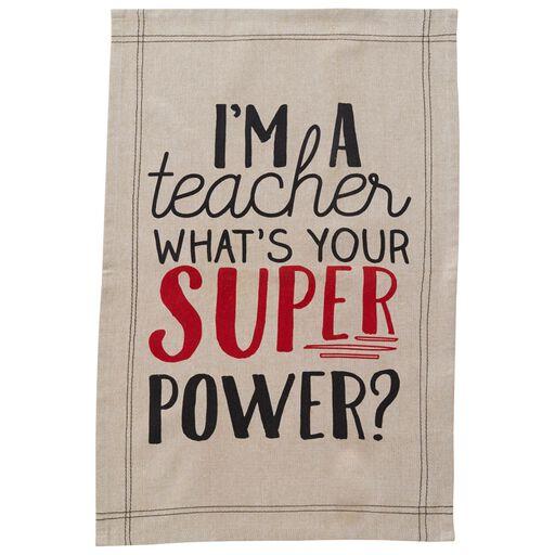 Teacher appreciation cards and gifts hallmark mud pie teacher super power kitchen towel negle Choice Image