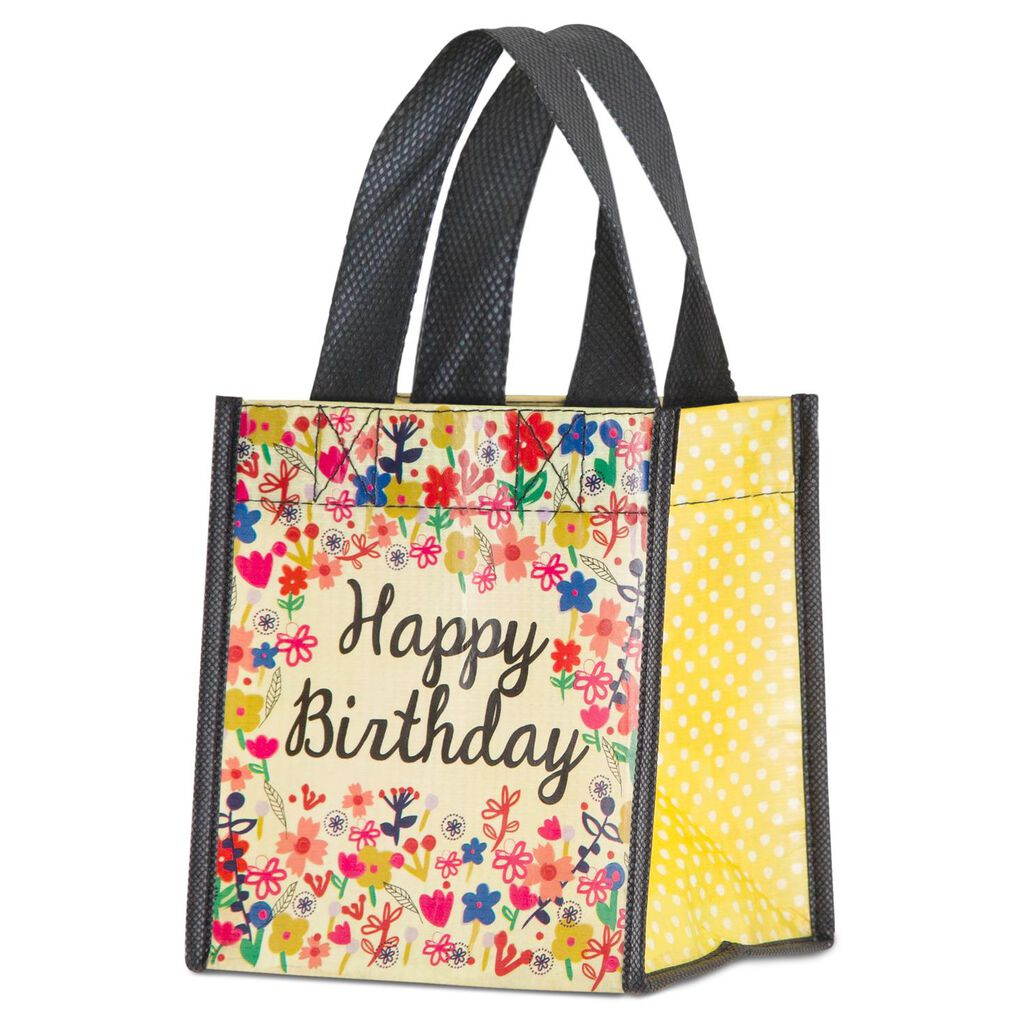 Natural Life Happy Birthday Gift Bag Cream Small