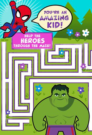 Marvel Avengers  Amazing Kid Maze Easter Card