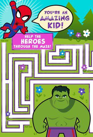 MARVEL Avengers  Amazing Kid Maze Easter Card