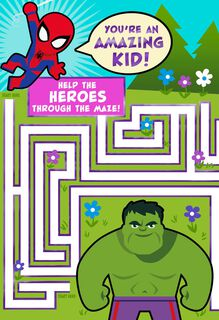 MARVEL Avengers  Amazing Kid Maze Easter Card,