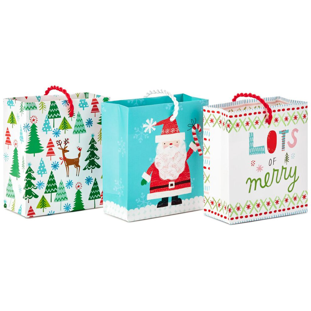 Santa and Friends 3-Pack Christmas Gift Card Holder Mini Bags, 4.5 ...