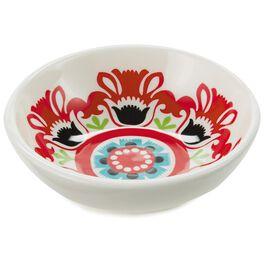 Fiesta Flowers Ceramic Tidbit Bowl, , large
