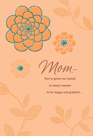Happy and Grateful Thanksgiving Card for Mom
