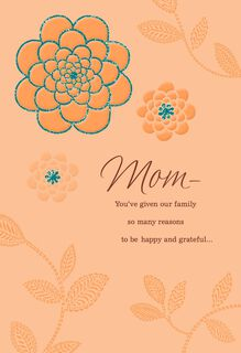 Happy and Grateful Thanksgiving Card for Mom,