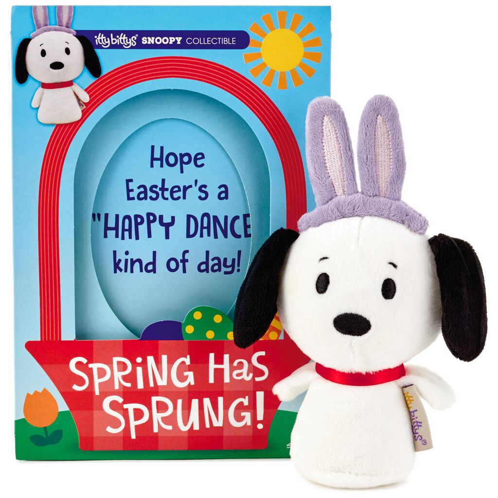 Itty Bittys Peanuts Snoopy Easter Card With Stuffed Animal