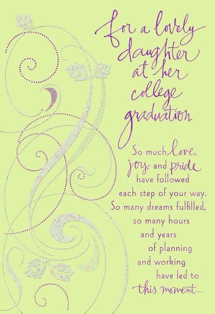 Much Loved Daughter S College Graduation Card Greeting Cards