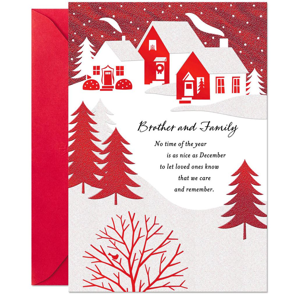 Joy and Love Christmas Card for Brother and Family - Greeting Cards ...
