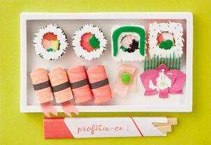 Sushi Bento Box French-Language Birthday Card