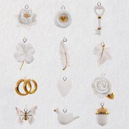 Wedding Wishes Mini Ornaments, Set of 12, , large