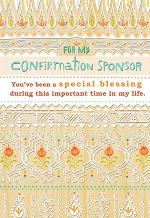 Confirmation Sponsor Floral Thank-You Card