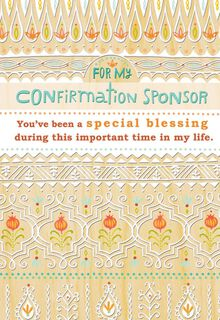 Confirmation Sponsor Floral Thank-You Card,