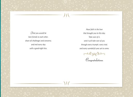 Wishes for Your Marriage Congratulations Card,