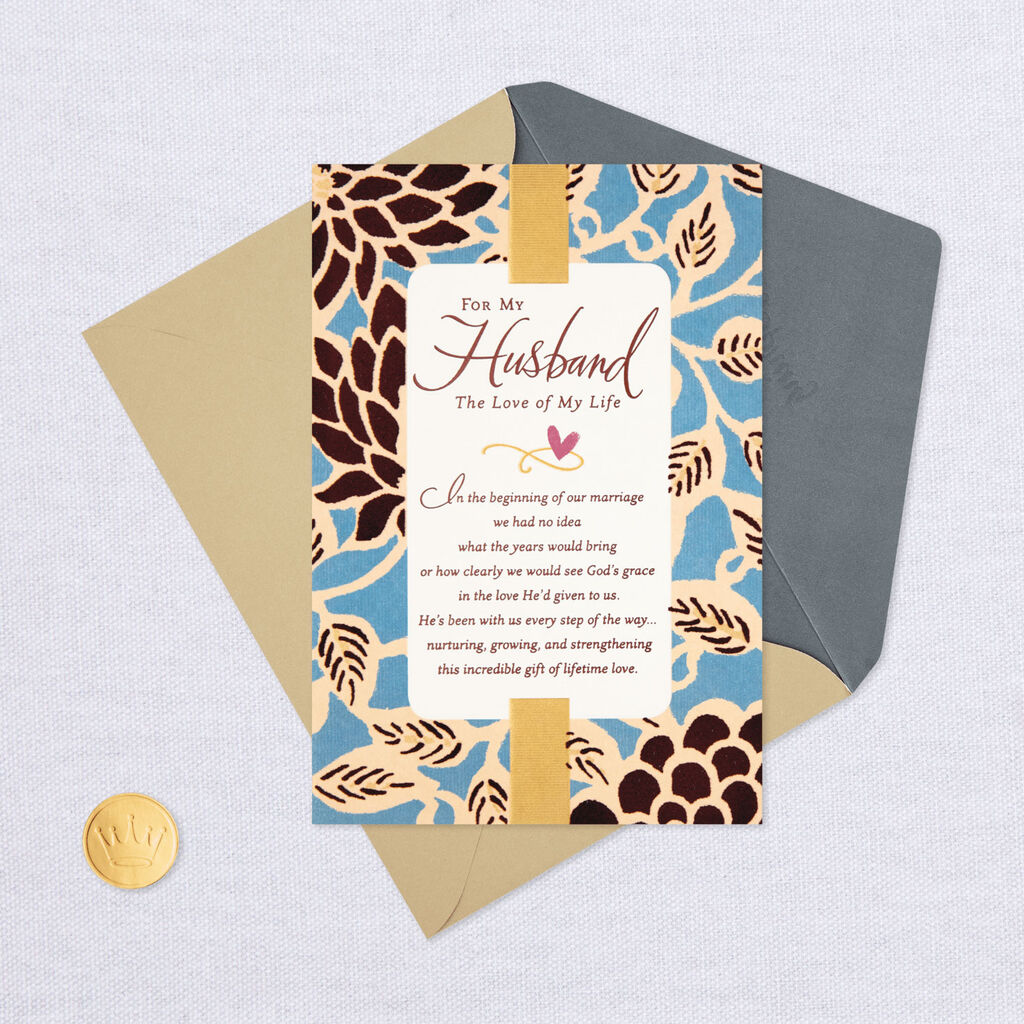Love Of My Life Religious Anniversary Card For Husband Greeting