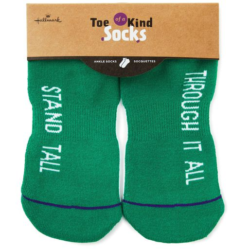 b452ab257 ... Stand Tall Through It All Toe of a Kind Novelty Socks, Green - Stand  tall. Product quick look