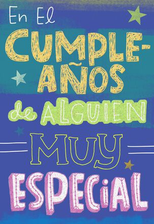 Special Person Spanish-Language Birthday Card