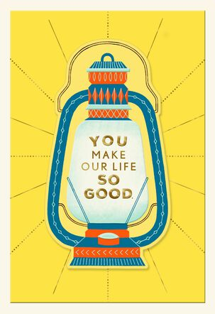 You Make Our Life So Good Father's Day Card for Husband