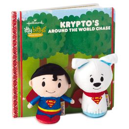 itty bittys® SUPERMAN™ Krypto's Around the World Chase Plush/Book Set, , large