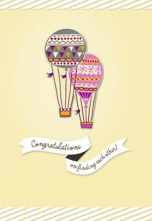 Hot Air Balloons Engagement Card