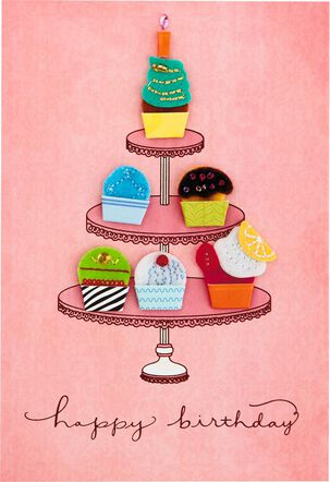 Colorful Cupcakes Birthday Card