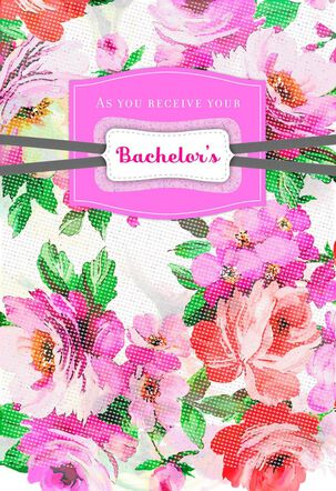 Floral Congratulations on Your Degree Custom Graduation Card