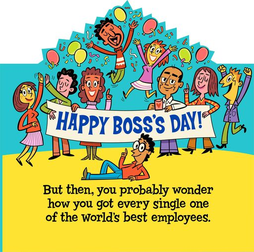 World's Best Boss and Employees Funny Boss's Day Card From Us,
