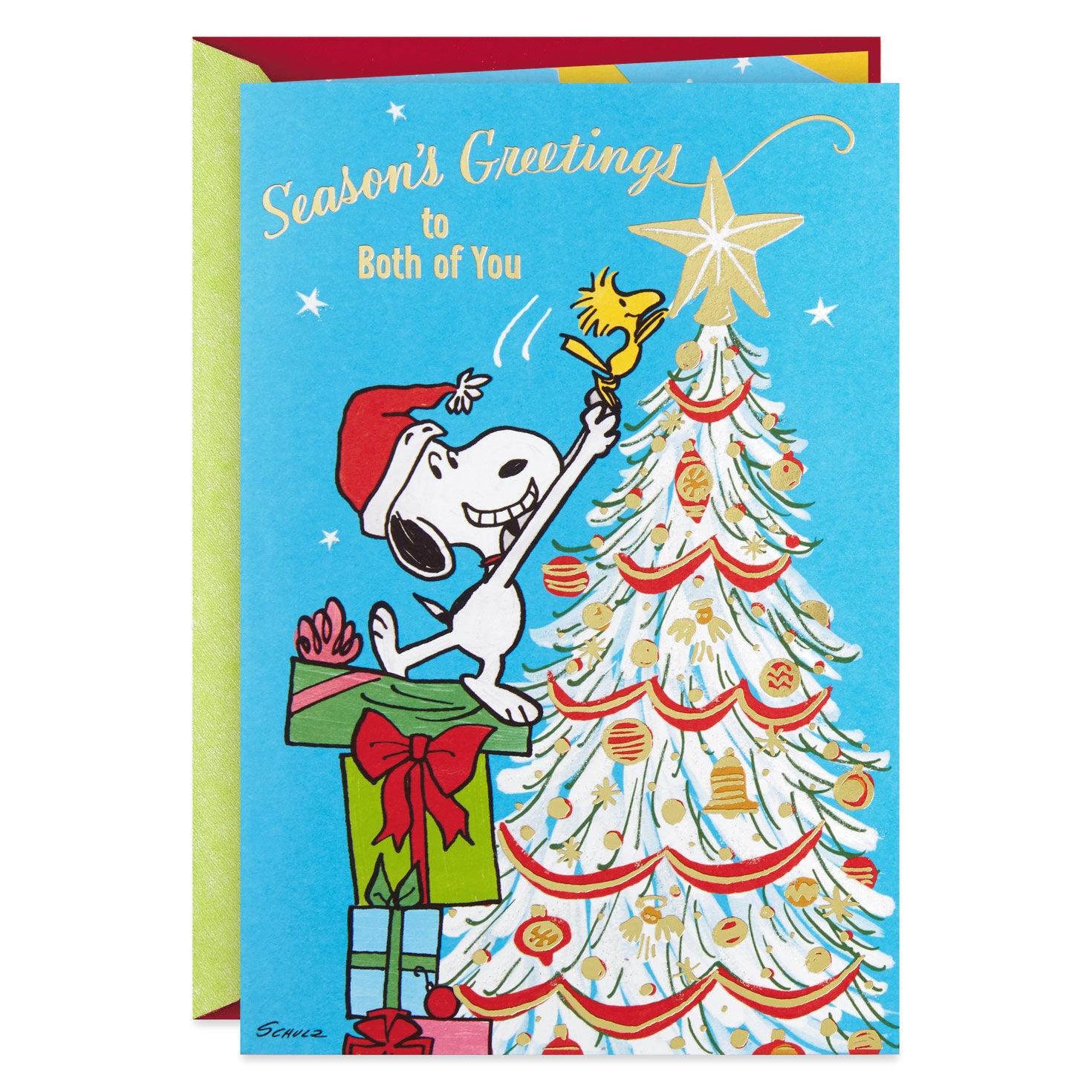 Christmas Wishes To Both Of You ~ Season/'s Greetings ~ Christmas Card