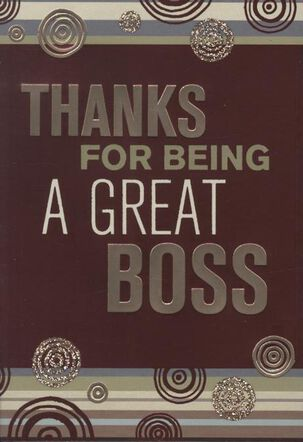 Grateful for You Boss's Day Card