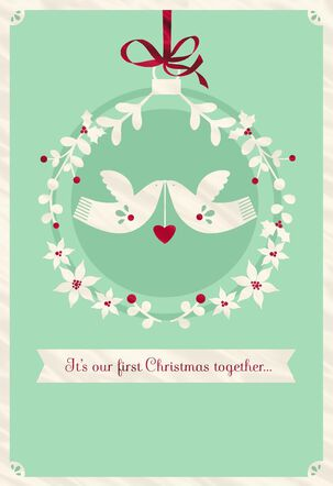 White Doves First Christmas Greeting Card