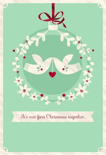 White Doves First Christmas Greeting Card,