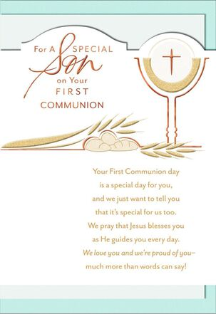 Rich Blessings, Son First Communion