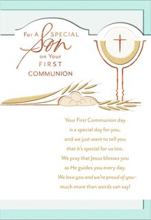 Rich Blessings, Son First Communion,