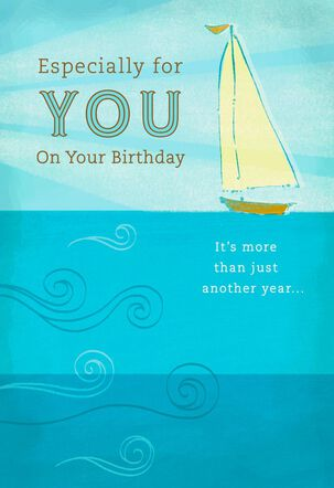 Sailboat on the Sea Birthday Card